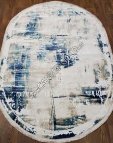 Турецкий Ковёр Elit 9190A Blue Cream ОВАЛ