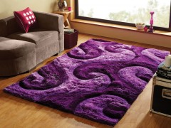 Обзор фиолетовых ковров в интерьере