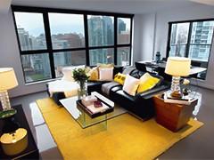 Желтые ковры в интерьере