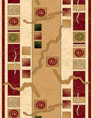 d077 - CREAM-RED - Дорожка - коллекция OLYMPOS