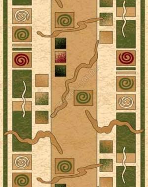 d077 - CREAM-GREEN - Дорожка - коллекция OLYMPOS
