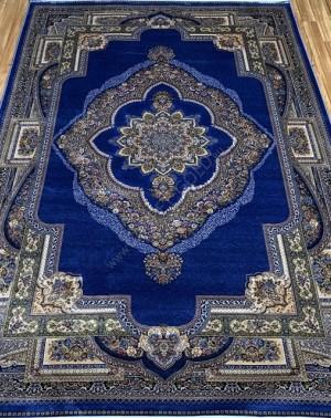 Турецкий ковёр шелковый QUM 2040C-NAV-BLUE 9050