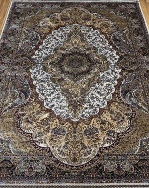 Турецкий ковёр шелковый QUM 2041-CRE-CRE 9054