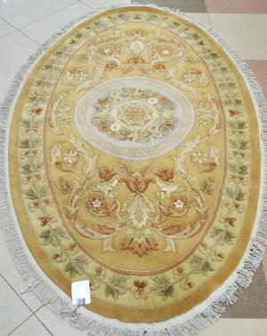 Китайский ковер ручной работы SHD-3 - BEIGE Oval