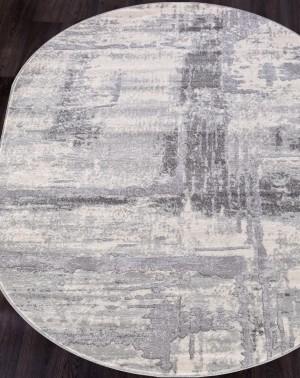 Ковер 1370A - COKEN D.GREY / K.GREY - Овал - коллекция MARDAN