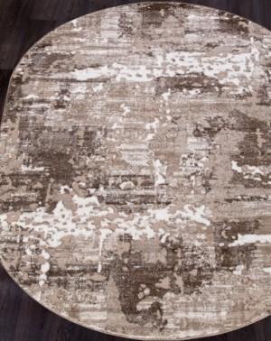 Ковер 1232A - VIZON COKEN / BROWN - Овал - коллекция MARDAN