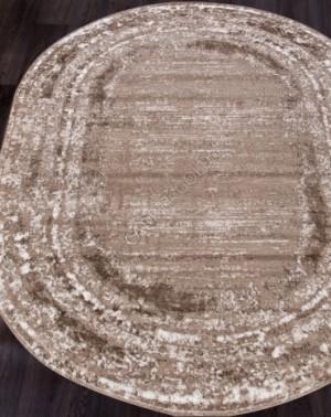 Ковер 1280A - VIZON COKEN / BROWN - Овал - коллекция MARDAN