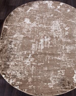 Ковер 1203A - VIZON COKEN / BROWN - Овал - коллекция MARDAN