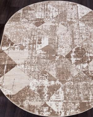Ковер 1237A - VIZON COKEN / BEIGE - Овал - коллекция MARDAN