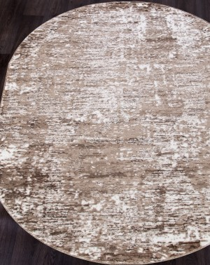 Ковер 1204A - VIZON COKEN / BROWN - Овал - коллекция MARDAN