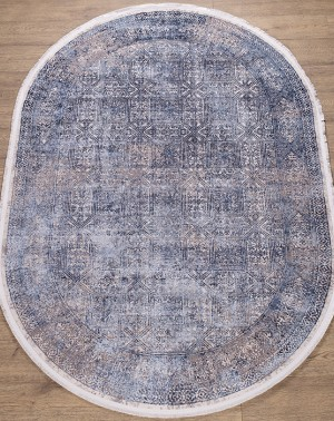 КОВРЫ ДИЗАЙН B167E ЦВЕТ COKME_DGRAY / L_BLUE