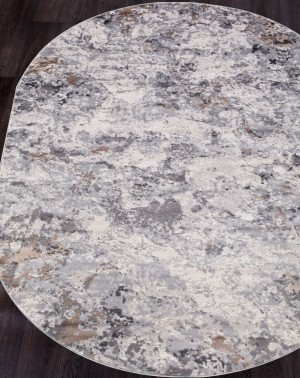 Ковер G503A - WHITE / D.VIZON - Овал - коллекция EFES