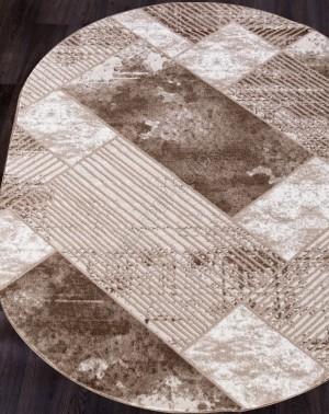 Ковер 5024A - VIZON COKEN / BROWN - Овал - коллекция MARDAN
