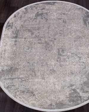 Ковер 9300 - GREY / GREY - Овал - коллекция BIBLOS