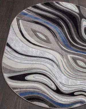 1385 - GRAY - Овал - коллекция MEGA CARVING