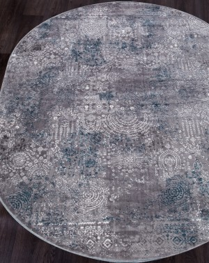 S106B - KOYU GREY COKEN / BLUE SATINE овал