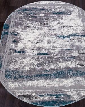S107B - KOYU GREY COKEN / BLUE SATINE овал