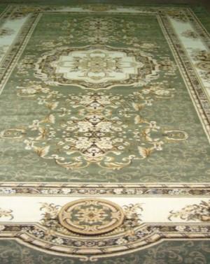 Шерстяной ковер Флоаре 022-5542 Зеленый