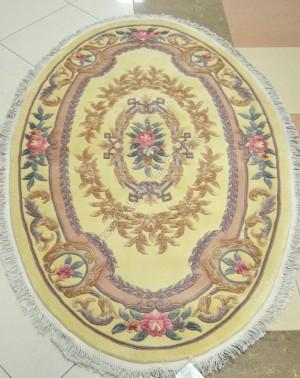 Китайский ковер ручной работы 0083 - CREAM Oval