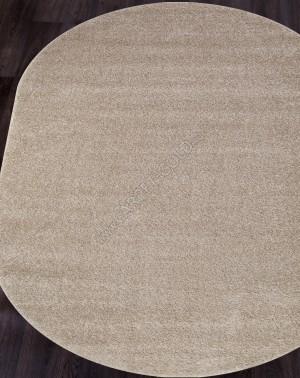 Ковер с длинным ворсом из синтетики PLATINUM T600 - BEIGE Овал