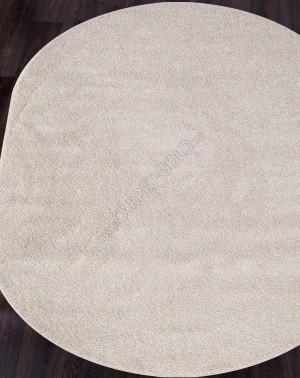 Ковер с длинным ворсом из синтетики PLATINUM T600 - CREAM Овал