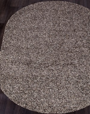 Ковер с длинным ворсом из синтетики PLATINUM T600 - MULTICOLOR Овал