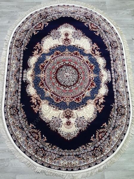 Marokand 7717 kemik lacivert oval